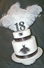 mascarade 18th side (Deliciously Decadent (Taya)) Tags: birthday white black cake mask 18th masqurade fetahers