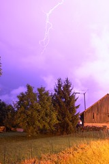 Lightning bolt 1 (Kev Allen) Tags: storm night canon le bolt lightning savoie thunder eclair haute villy thunderbolt hautesavoie 1635 bouveret villylebouveret 40d lightninbolt
