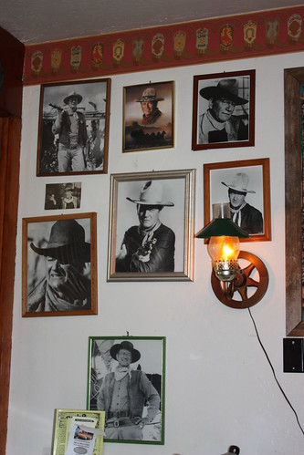 Lots of photos of John Wayne.