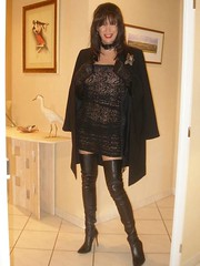 Leather legs part 2 - 09-10-22-46 (french_lolita) Tags: black dress boots lace coat thighboots highheelboots lacedress thighhighboots