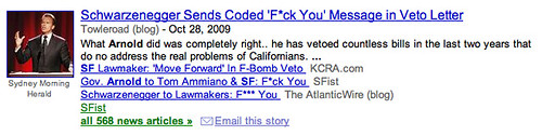 F Bomb on Google News