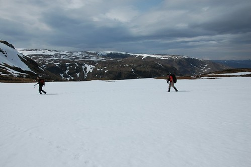 Snowfield below Knaps of Fafernie