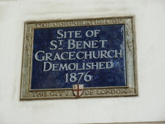 Photo of St. Benet Gracechurch blue plaque