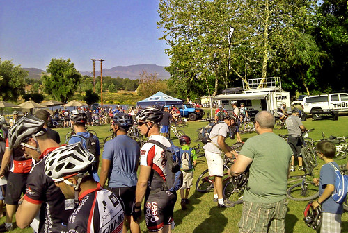 Riders gathering before the race.