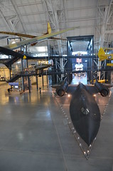 Steven F. Udvar-Hazy Center: main hall panorama (SR-71, Space Shuttle, et al)