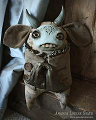 Pip (AmandaLouiseSpayd) Tags: sculpture cute art monster handmade teeth plush jacket creature lowbrow primitive amandalouisespayd alsslideshow