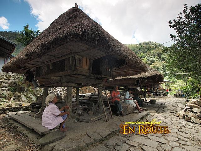 A row of native Ifugao Houses