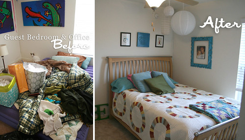 before and after Art Studio Guest Bedroom
