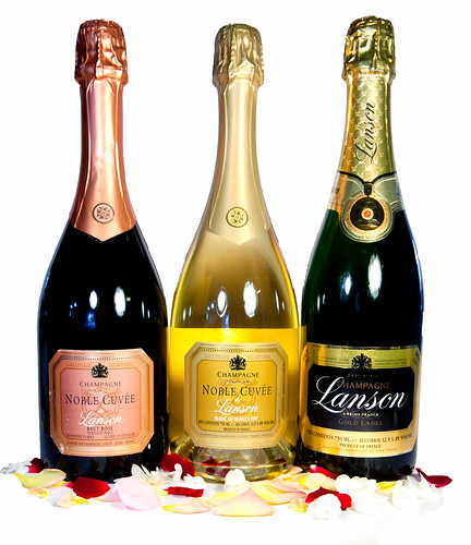 Trio of Lanson Champagnes: Gold Label and Noble Cuvees
