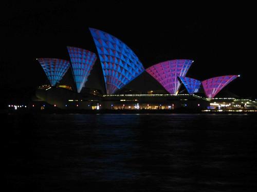 Opera House all lit up