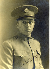 Handsome young US army officer 1917 portrait (pince_nez2008) Tags: man soldier army nose glasses uniform wwi handsome eyeglasses officer eyewear eyeglass pincenez noseclip soldierwearingpincenez earloop noseeyeglasses