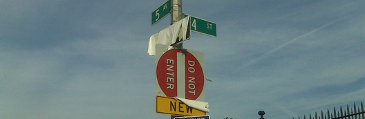 Fifth Avenue One Way Sign