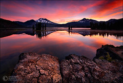 Strawberry Sunrise Corrected (Zack Schnepf) Tags: red summer fab lake oregon sisters sunrise landscape rocks bend quality threesisters zack sparks brokentop sparkslake winderness valcanic aplusphoto diamondclassphotographer flickrdiamond zackschnepf
