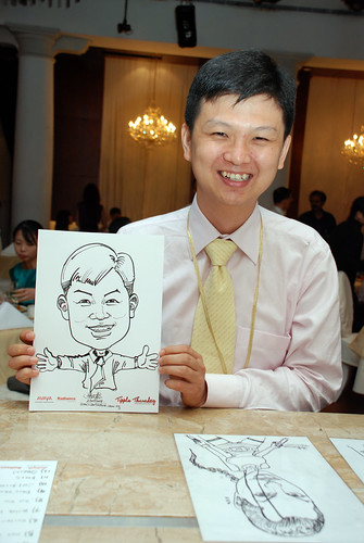 caricature live sketching Singtel Radiance Communications Avaya 7