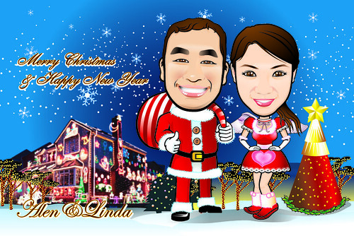 Q-Digital Caricatures - Christmas