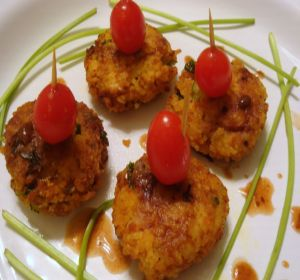 cheese-rice cutlets
