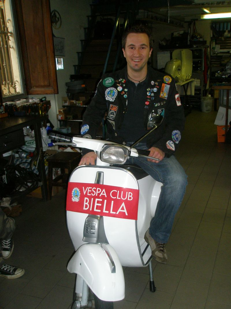 Claudio at Vespa Store in Biella