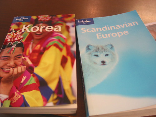Comparison of Lonely Planet Korea vs Scandinvia