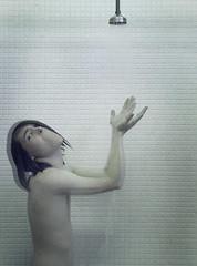 Fade To White (ljosberinn) Tags: water mouth dark shower ghost dream bodylanguage surreal tiles horror nightmare hörður hörðurshower