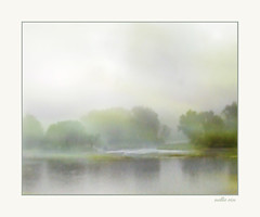 """En attendant Godot."" Natures setting for the play. Nellie Vin. (Nellie Vin) Tags: morning color film fog photography waiting theater pastel beckett samuel susquehannariver godot nellievin settingfortheplay enattendantgodot bradfordcountytowanda"