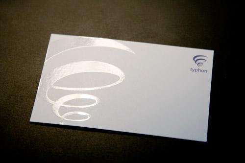 Carte de visite Typhon - Recto