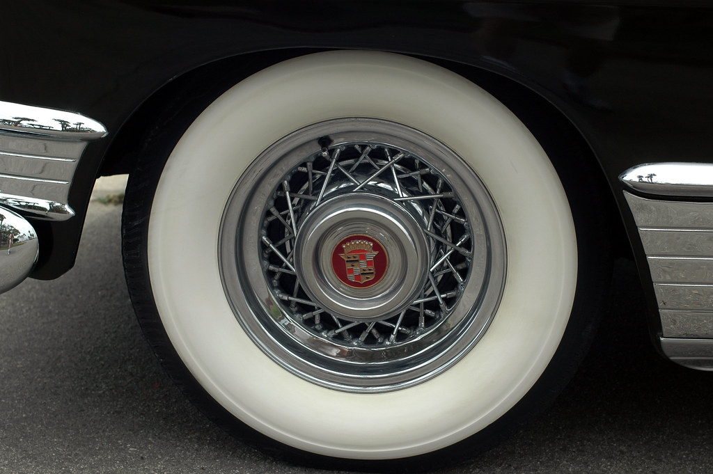 1949 Cadillac, Period Cadillac Wire Wheels and Bias Plies