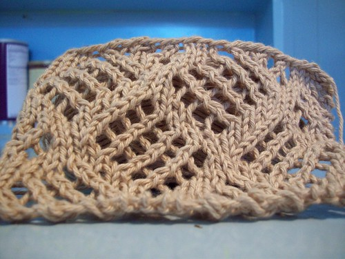 dappled lace curtain swatch