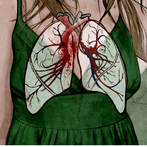 lungs, dress - detail