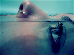 (;dreamer) Tags: blue eye water girl face closeup underwater piercing anawesomeshot