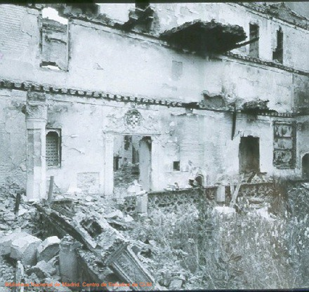 Daños por el incendio provocado en la Guerra Civil en el convento de San Juan de la Penitencia (Toledo)