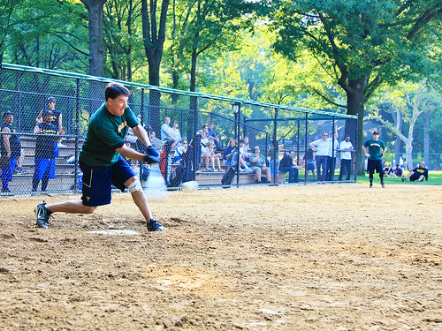 Central Park Baseball - The HIT