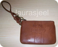 Coach British Tan Bleecker wristlet