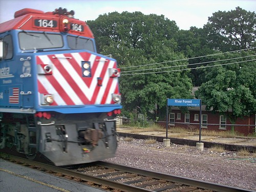 Metra express commuter train. River Forest Illinois. June 2007. by Eddie from Chicago
