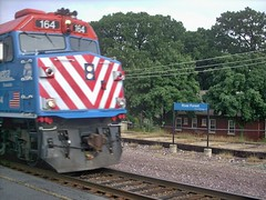 Metra express commuter train. River Forest Illinois. June 2007.