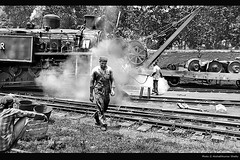 Steam Engine (akshath) Tags: world trip india mountain heritage yard movie site action weekend explosion engine railway visit steam unesco railways oldest tamilnadu ooty hillstation engineers shetty nilgiris nilgiri walked southindian servicing udh