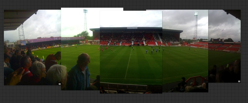 Opening day, the County Ground