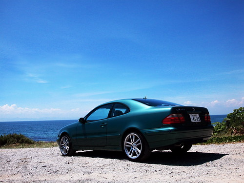 my car ,sea and sky