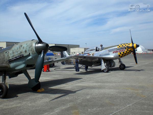 Messerschmitt Bf 109E-3 and P51