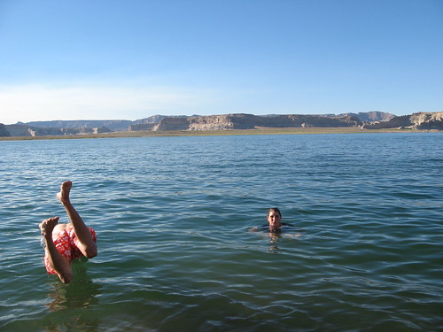 Taking a dip in Lake Powell