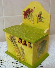 Saleiro - salt cellar (side view) (Oh!.. So cute!) Tags: glitter 3d handmade artesanato handcraft decoupage saltcellar saleiro craquel