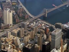 Downtown and Brooklyn Bridge (Dan_DC) Tags: nyc bridge urban newyork downtown cityscape manhattan aerialview aerial brooklynbridge urbanscene