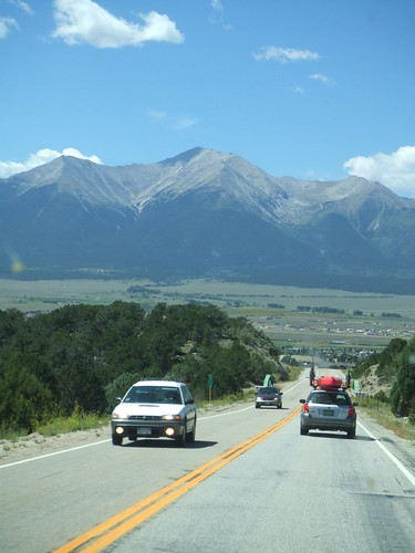 The drive to Salida, CO
