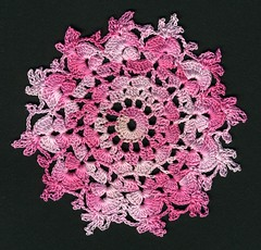 pink coaster (akki14) Tags: thread crochet coaster doily