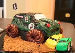 Gravedigger cake (my2pickles) Tags: birthday party cake truck gravedigger jam monstertruck gravediggercake