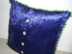 Quilted pillow - back
