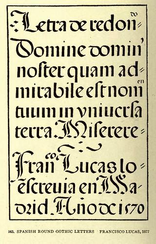 09- Escritura gotica redondeada española de Francisco Lucas 1577