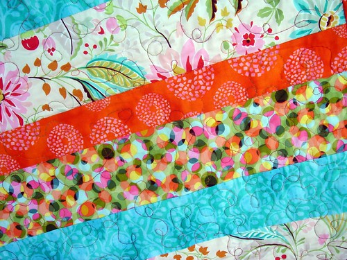 bright quilt detail