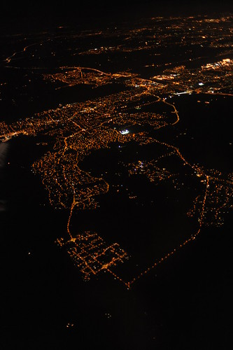 City Lights from the plane
