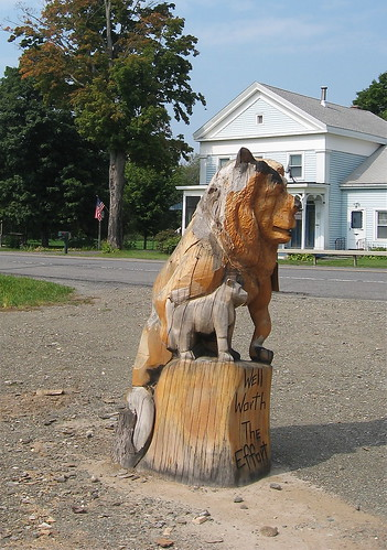 carving of lion