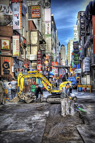 Seoul Road Work: HDR